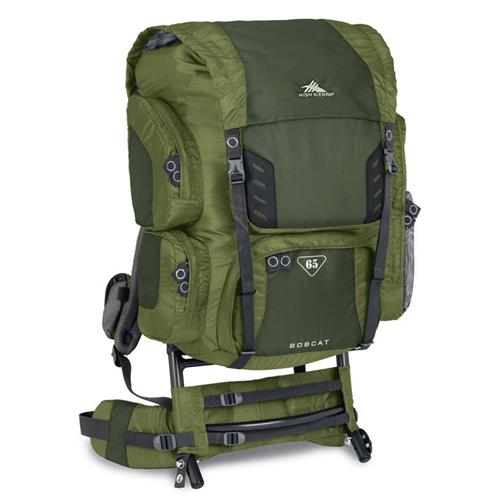 High Sierra Bobcat 65 External Frame Pack Amazon/Pine