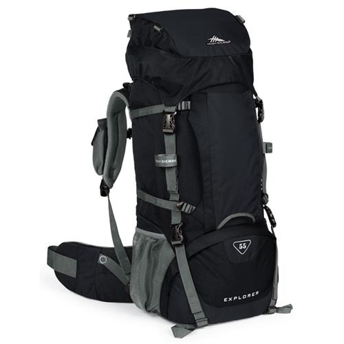 High Sierra Explorer 55 Backpack Black