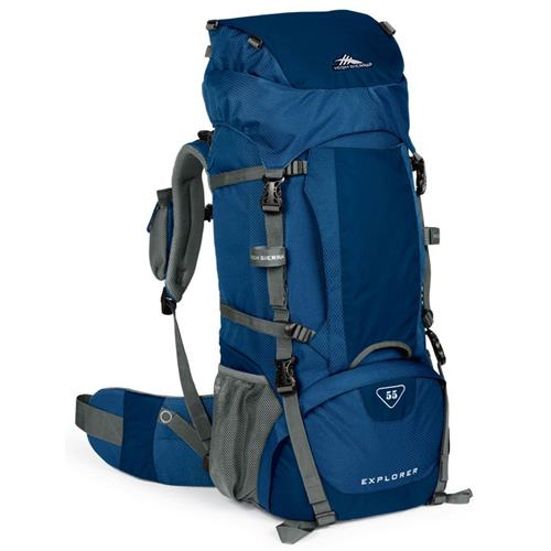 High Sierra Explorer 55 Backpack Pacific/Nebula/Charcoal
