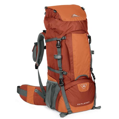 High Sierra Explorer 55 Backpack Redrock/Auburn/Charcoal