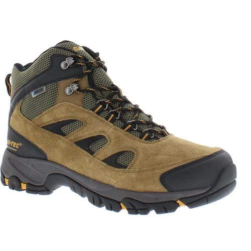 5826c895e51 Hi-Tec Logan Mid Waterproof Boots for Men - Bone/Brown/Mustard