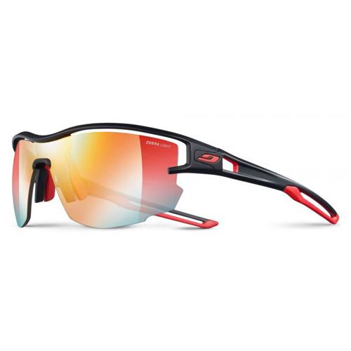 77bf8bb409a41e Julbo Aero Sunglasses - Zebra Light Lens Black Red J4833114
