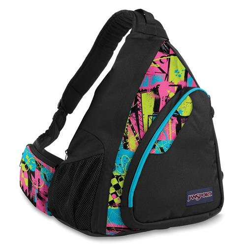 Jansport Air Cisco Sling Pack Black/Fluorescent Street Scene