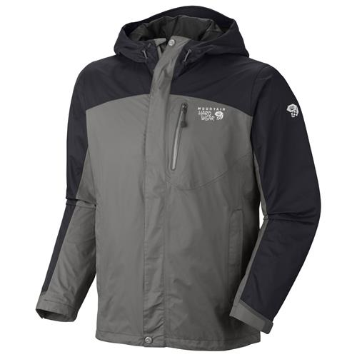 Mountain Hardwear Ampato Jacket for Men Large Titanium/Black
