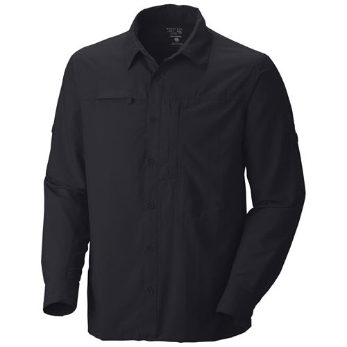 Mountain Hardwear Canyon Long Sleeve Shirt for Men Large Black