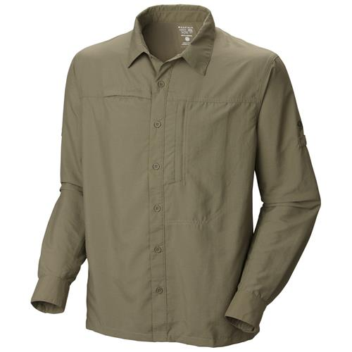 Mountain Hardwear Canyon Long Sleeve Shirt for Men Small Stone Green