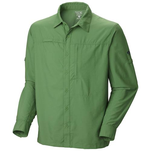 Mountain Hardwear Canyon Long Sleeve Shirt for Men Large Zen Green