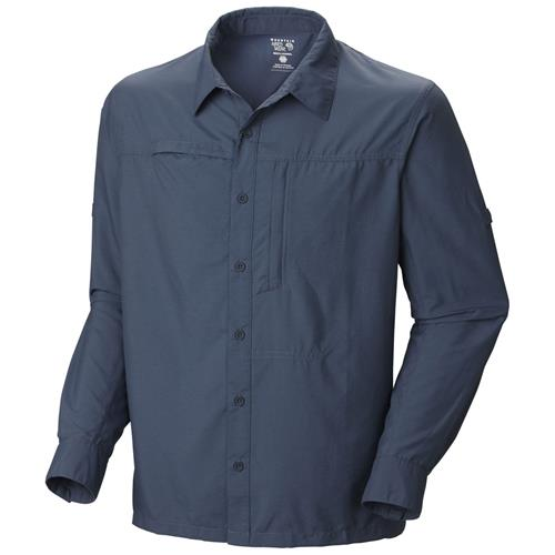 Mountain Hardwear Canyon Long Sleeve Shirt for Men Small Zinc