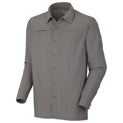 Mountain Hardwear Canyon Long Sleeve Shirt for Men X-Large Titanium