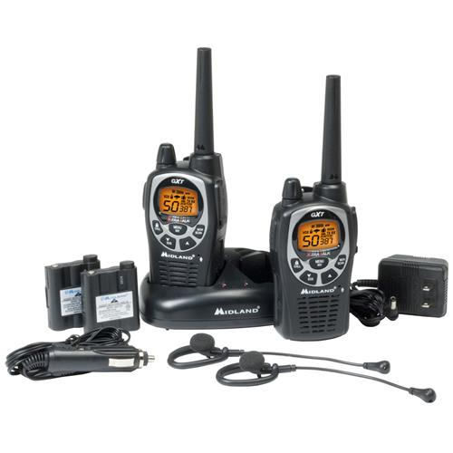 Midland GXT1000VP4 Waterproof Series 50-Channel 36-mile 2-Way GMRS Radio Set