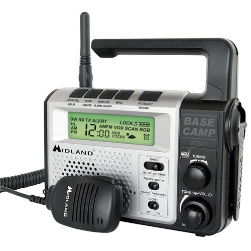 Midland GMRS Emergency Dynamo Crank Radio with AM/FM