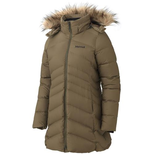 Marmot Montreal Down Coat for Women Large Dark Olive