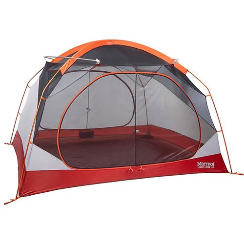 Marmot Limestone 4P Tent with Door Mat and Hanging Organizer Pale Pumpkin/Terra Cotta