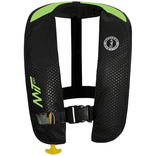 Mustang Survival MIT 100 Manual Activation PFD, Black/Green