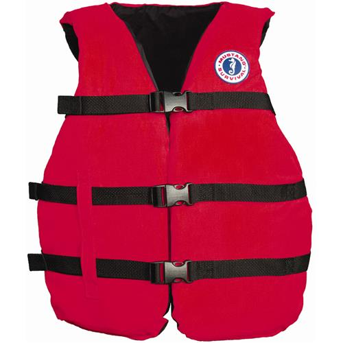 Mustang Survival Universal Fit Adult PFD, Red