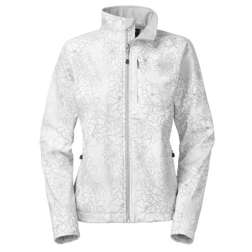 The North Face Apex Bionic Jacket for Women Small TNF White Stencil Flower Print
