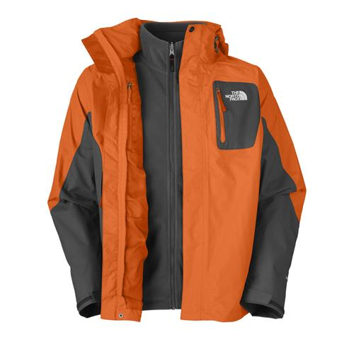The North Face Atlas Triclimate Jacket for Men Small Oriole Orange/Asphalt Grey