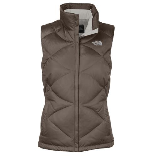 North Face Aconcagua Down Vest for Women Large Weimaraner Brown