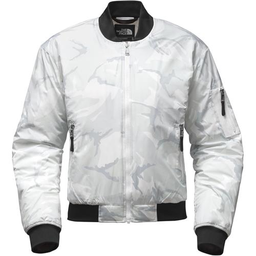 The North Face Barstol Bomber Jacket Women X-Small TNF White Disrupt Camo 48697c37c