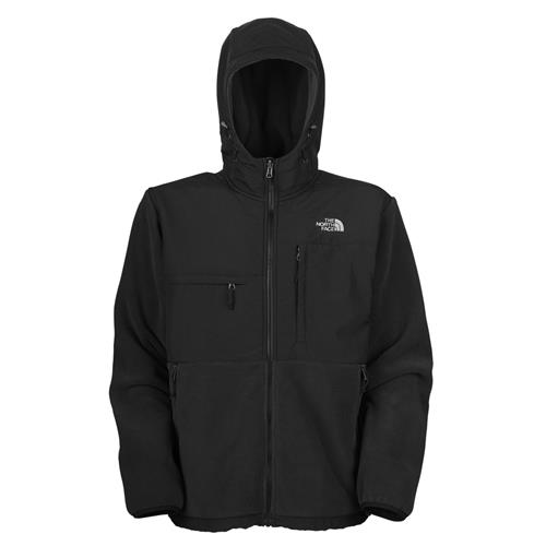 The North Face Denali Hoodie Jacket for Men X-Large R Charcoal Grey Heather/TNF Black