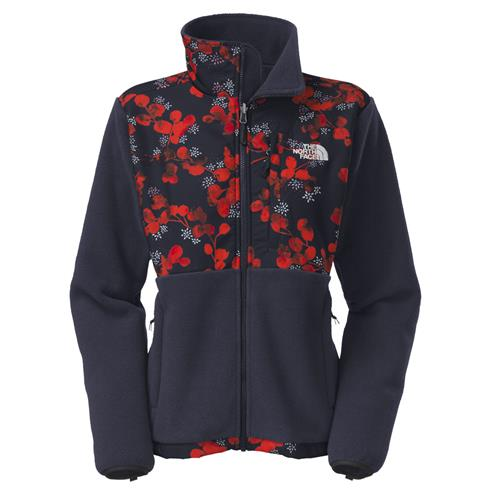 The North Face Denali Jacket for Women Small Cosmic Blue/Spicy Orange Blossom Print