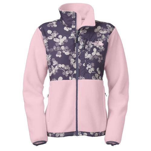 The North Face Denali Jacket for Women Small Coy Pink/Greystone Blue Blossom Print