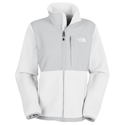 The North Face Denali Jacket for Women Small Recycled TNF White/High Rise Grey