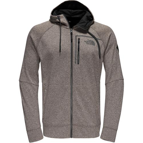 dc40b35b0431 The North Face Mack Eaze Full Zip Hoodie for Men Small Falcon Brown  Heather Black Reflective