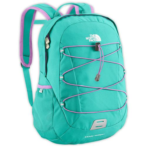 The North Face Happy Camper Youth Daypack Tree Frog Green Geo Zoo Print