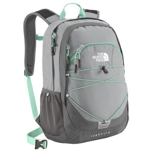 The North Face Isabella Daypack for Women High Rise Grey/Beach Glass Green