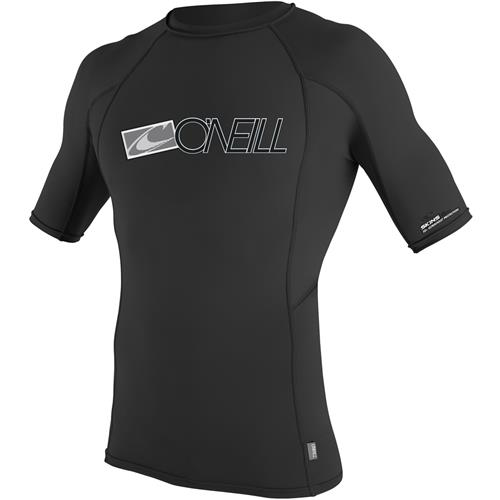 O'Neill Men's Skins Short Sleeve Crew Medium Black