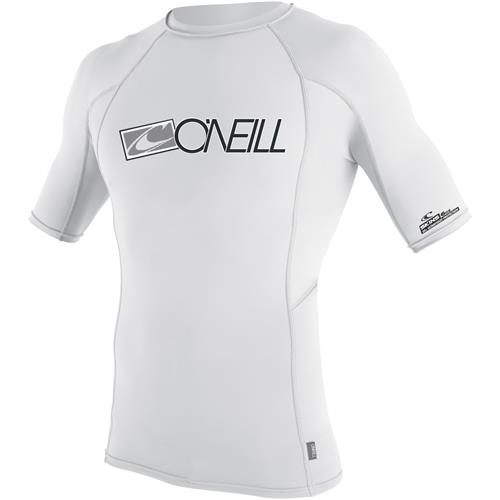 O'Neill Men's Skins Short Sleeve Crew Large White