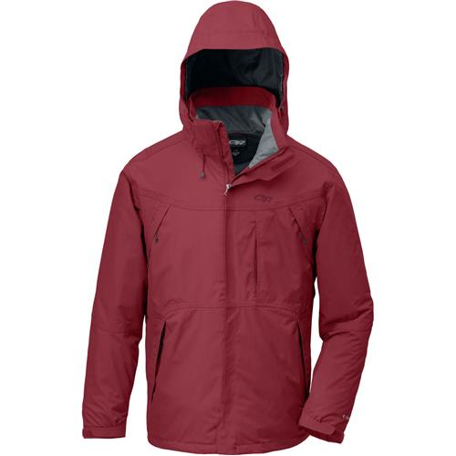 Outdoor Research Backbowl Jacket for Men Medium Patrol Red