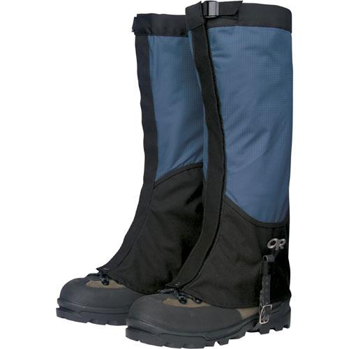 Outdoor Research Verglas Gaiters for Men - Discontinued Model Medium Marine Blue/Black