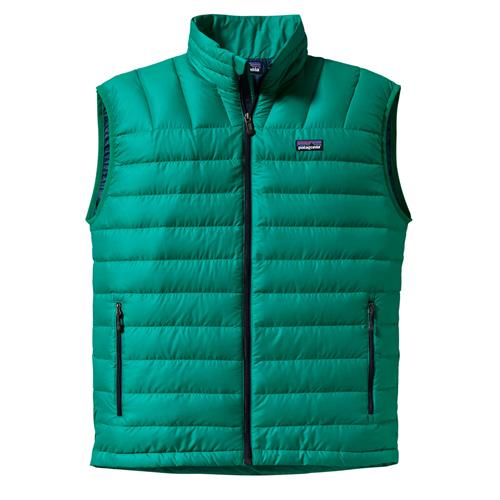 Patagonia Down Sweater Vest for Men Small Green Super Sonic