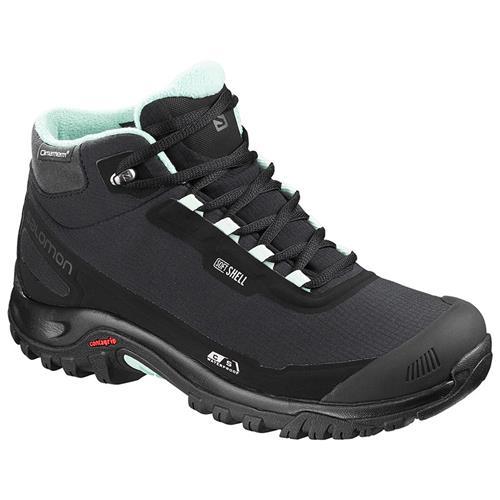 533e7f27 Salomon Shelter CS Waterproof Hiking Boot for Women, Black/Black/Eggshell  Blue