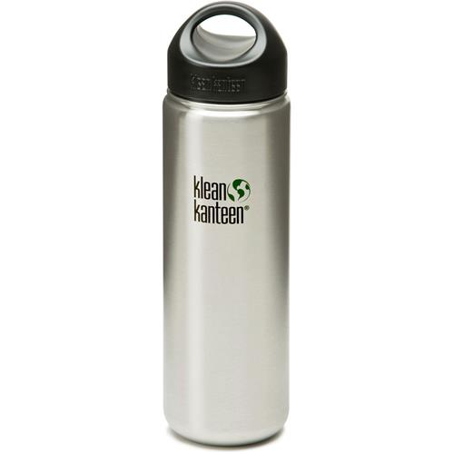Klean Kanteen Wide Mouth with Loop Cap - Stainl