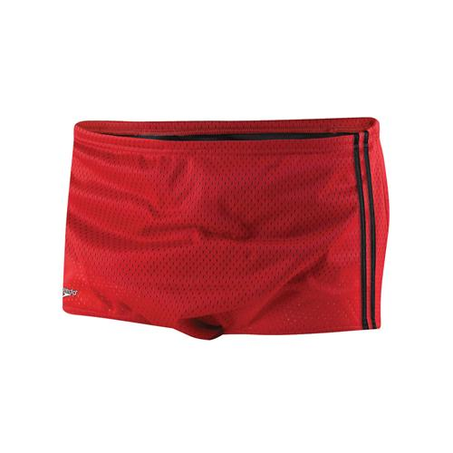 Speedo Men's Solid Poly Mesh Square Leg