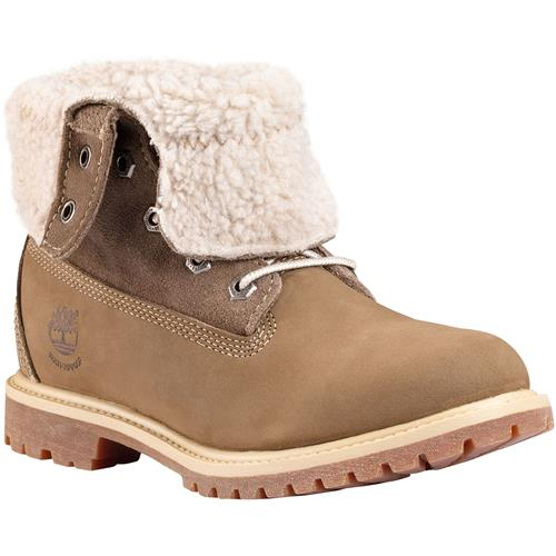 15fd6096e5ab Timberland Authentics Teddy Fleece Fold-Down Boot Women 10M Taupe