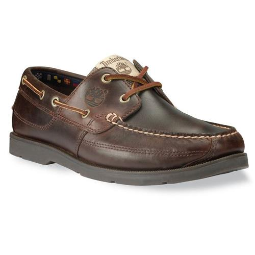 Timberland Earthkeepers Kia Wah Bay Handsewn Boat Shoes for Men 12W Brown Pull-Up