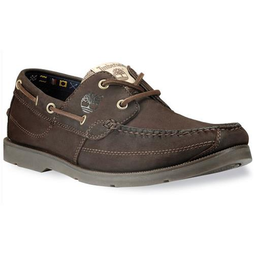Timberland Earthkeepers Kia Wah Bay Handsewn Boat Shoes for Men 10W Chocolate Brown