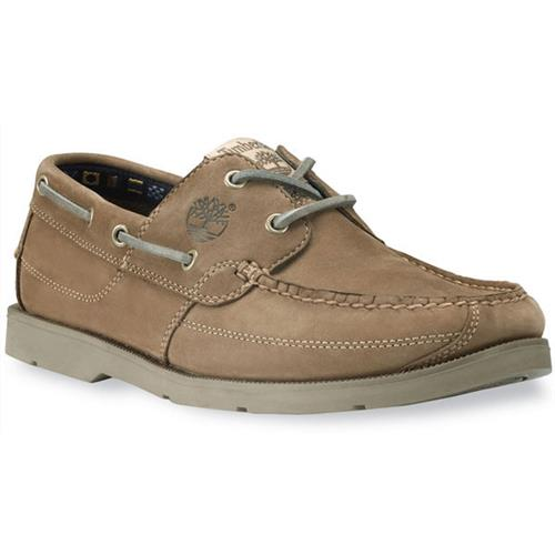 Timberland Earthkeepers Kia Wah Bay Handsewn Boat Shoes for Men 10M Taupe Nubuck