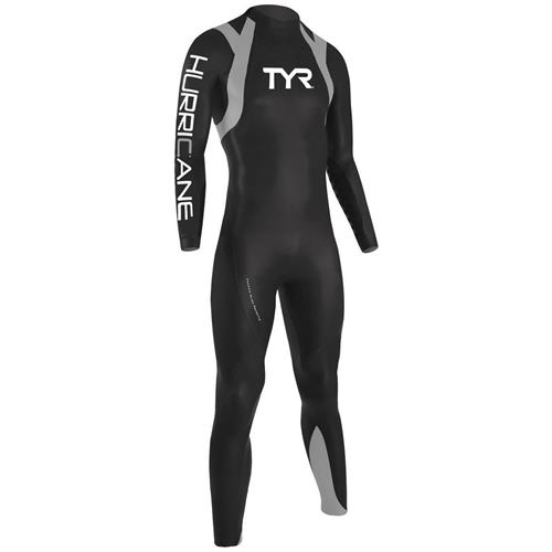 TYR Men's Hurricane Long Sleeve Wetsuit Category 1, Black