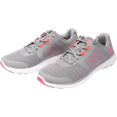 Under Armour UA Fuse FST D Running Shoes for Women, Wide 10 BlackWhiteChambray Blue