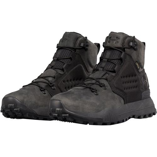 f35bad63b5c Under Armour UA Newell Ridge Mid GORE-TEX Leather Hiking Boots for Men,  Black 11.5 Black/Black/Black