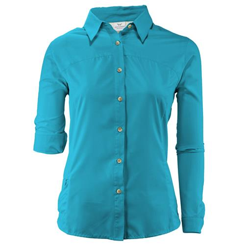 White Sierra Gobi Desert Long Sleeve Shirt for Women