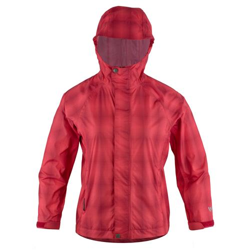 White Sierra Plaid Trabagon Jacket for Women Small Hibiscus Plaid