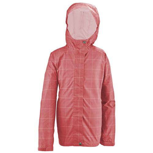 White Sierra Plaid Trabagon Jacket for Women Large Shell Pink Plaid