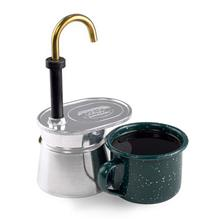 photo: GSI Outdoors 1 Cup Aluminum Mini Expresso coffee press/filter