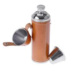 GSI Outdoors Glacier Stainless Leather Wrapped Flask